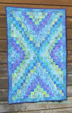 Creatin' in the sticks: Underwater, a Bargello Quilt