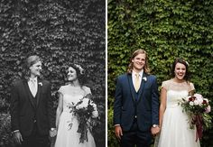 Stylish bride and Long haired groom, complete with deep reds and pink bouquet - Fort Worth Wedding Reception at The Rose Chapel