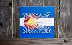 Colorado State Flag and String Art Wooden by TheRusticWillows