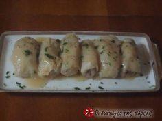 Εξαιρετική συνταγή για Λαχανοντολμάδες νηστίσιμοι. Λαχανοντολμάδες αρωματικοί με λεμονάτη σάλτσα Λίγα μυστικά ακόμα Μπορείτε να προσθέσεθε στη γέμιση και ψιλοτριμένο καρότο. Sushi, Chicken, Meat, Ethnic Recipes, Food, Essen, Meals, Yemek, Eten