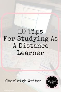 10 Helpful Tips For Studying As A Distance Learner – Charleigh Writes Effective Study Tips, Spanish Language Learning, Teaching Spanish, Study Techniques, Distance, Study Organization, Study Skills, Student Studying, Study Motivation