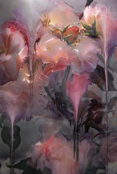 Nick Knight: Flora Would love to own one of the paintings from this body of… Art Floral, Foto Art, Chinese Painting, Painting Inspiration, Art Inspo, Painting & Drawing, Flower Art, Amazing Art, Art Photography