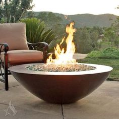 45 Inch Copa Moreno Hand Hammered Copper Fire Pit by Lindsey  Conklin
