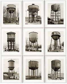 Bernd and Hilla Becher. Water Towers (Wassertürme). 1980 - Guggenheim Museum New York. The same but different.