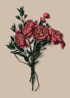 #peonies #drawing #art #tattoo #design