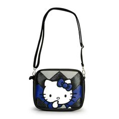 Hello Kitty Blue And Black Chevron Cross Body - Hello Kitty - Brands