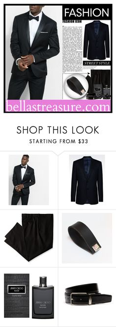 """Your Man In Bella's Cuffs"" by samirhabul ❤ liked on Polyvore featuring Express, Armani Collezioni, Savane, Jimmy Choo, Lacoste, men's fashion and menswear"