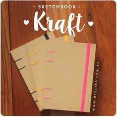 Sketchbook Kraft - por @miolitocadernos