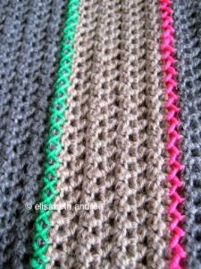 blanket with neon accents by elisabeth andrée
