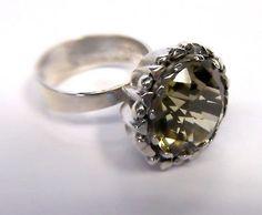 Erik Granit, vintage sterling silver ring with citrine quartz. #Finland