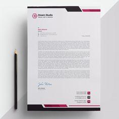 Creative Professional Letterhead Template Word  Rintu Moni