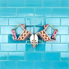Loft Turquoise 3x6 Polished Glass Tile | TileBar.com