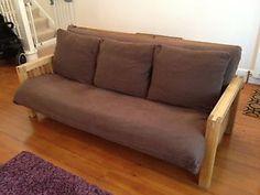 Futon Company Oke 3 Seater Sofa Bed Solid Oak