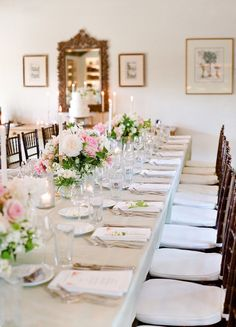 Romantic candlelit wedding table: http://www.stylemepretty.com/2017/02/28/from-garden-to-candlelit-dinner-this-affair-is-all-out-romance/ Photography: Lacie Hansen - http://laciehansen.com/