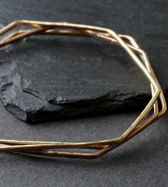 Hex Hammered Bangle by Alexis Russell on Scoutmob Shoppe