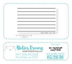LINES - Planner Stamps (Photopolymer Clear Stamps) stamp lines, lines stamp, make your own lines