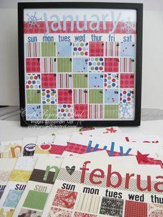 Diy Calendar 16 Quot X 20 Quot Picture Frame Paint Swatches