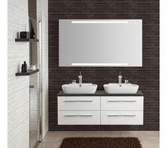 servant på benkeplate - Google-søk Double Vanity, Bathroom, Washroom, Bathrooms, Bath, Double Sink Vanity