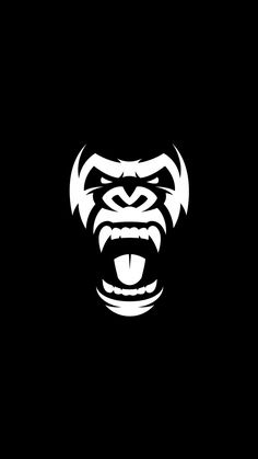 Angry gorilla symbol Graphics Vector graphics Install any size without loss of quality.ZIP archive contains:-file -file by Gorilla Tattoo, Pencil Illustration, Graphic Illustration, Vector Graphics, Vector Art, Logo Animal, Web Design, Logo Design, Graphic Design