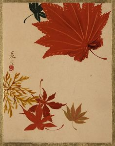 Shibata Zeshin (Japanese, 1807–1891). Maple Leaves, Edo period (1615–1868). The Metropolitan Museum of Art, New York.The Howard Mansfield Collection, Purchase, Rogers Fund, 1936. (36.100.134)