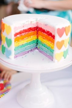 Great blog! This post has many ideas for a little girl birthday party rainbow theme! Cute!