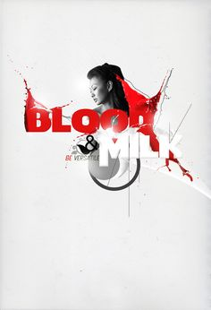 Create Blood and Milk Typography Poster in Photoshop