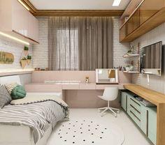 Bedroom Layouts, Room Ideas Bedroom, Small Room Bedroom, Home Bedroom, Bedroom Decor, Tiny Bedroom Design, Small Room Design, Home Room Design, Girl Bedroom Designs