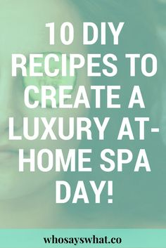 Pamper yourself at home with these 10 diy recipes.  Create a luxury spa for yourself to relax and feel less stressed!  Prepare for the week with this at home spa routine to stay productive!