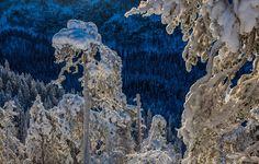Sinistä ja valkoista Korouomalla #Korouoma #Posio - photo by Markku Välitalo - Satu Karlin (@KarlinSatu) | Twitter