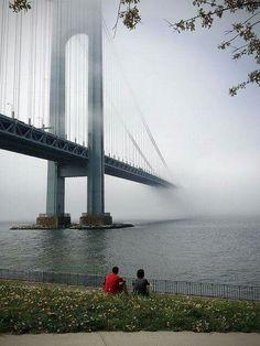 The Verrazano Bridge, Bay Ridge, Brooklyn NY