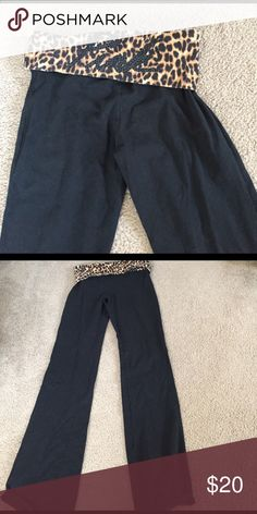 Fold over bootcut yogas Victoria's Secret pink fold over yoga pants in size small regular, super cute pants and very comfortable PINK Victoria's Secret Pants Straight Leg