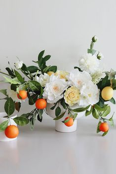 DIY Faux Flower Wedding Centerpiece Recipe Shop Faux Roses in White and Yellow, Silk White Dahlias, Flower Shop Design, Wedding Flower Design, Wedding Flowers, Barn Wedding Centerpieces, Floral Centerpieces, Wedding Decorations, Centerpiece Ideas, Wedding Ideas, Simple Flowers