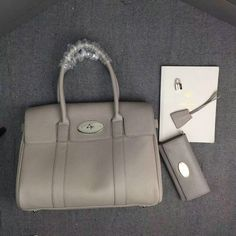 c881b0c956a5 2016 Hottest Mulberry Bayswater Handbag in Grey Small Grain Leather -    Mulberry Outlet UK Team