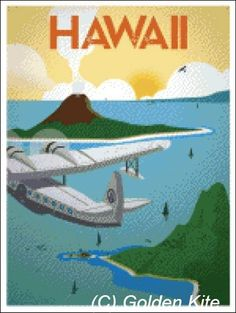 USA Hawaii Poster - Solid colors