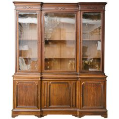 19th Century French Louis Philippe Walnut Bibliotheque | From a unique collection of antique and modern bookcases at https://www.1stdibs.com/furniture/storage-case-pieces/bookcases/