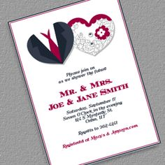 Hearts Couple Shower Invitation - www.printableinvitationkits.com
