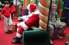 Little boy is going to ask Santa for his father returns from Iraq. He does not know that his wish will come true right now …it's just my opinion but I don't know how this doesn't bring a tear to your eyes...