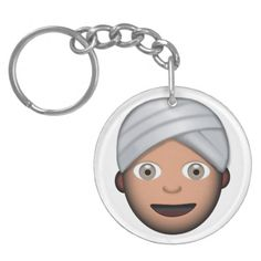 Man With Turban Emoji Acrylic Keychain
