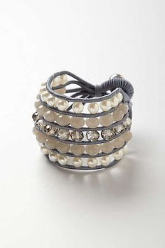 Anthropologie - Pearls & Stones Bracelet.