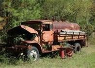 abandoned fire truck