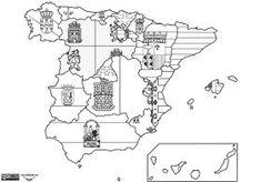 Interesting map of Spain Spanish Teacher, Spanish Classroom, Teaching Spanish, Classroom Ideas, Map Of Spain, Andalucia, Summer School, Social Science, Jennifer Aniston