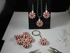 DIY Peppermint Christmas Ornament Jewelry and Keychain Tutorial