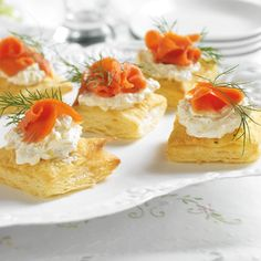 Salmon and puff pastry