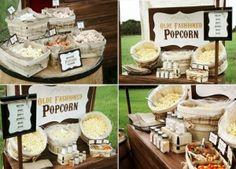 Rustic Popcorn Bar by lee