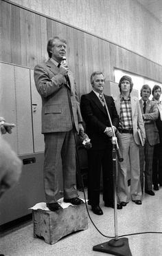 Jimmy Carter campaigning in Tallahassee, Florida, 1976