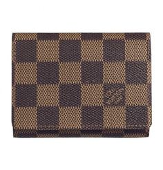 New Women Louis Vuitton Damier Ebene Canvas Business Card Holder Brown College Girl Fashion, School Fashion, Louis Vuitton Wallet, Louis Vuitton Handbags, Canvas Business, Top 10 Beauty Tips, Gift Boxes Wholesale, Wholesale Handbags, Cheap Wholesale