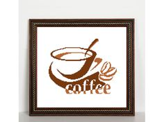 Coffee Cup Silhouette Coffee Silhouette by FluffyFuzzypatterns