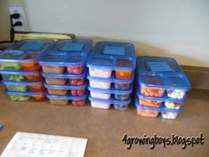 4 Growing Boys: School lunch ideas  I also use ziplock divided containers. They are great for lunches but also great for bento boxes for hubby to take to work and snacky kiddos! --Misty :)