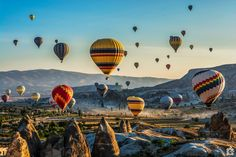 Do not tire your eyes from watching sunrise with balloons fly in the sky .... Stunning view, hoping that you ll like it