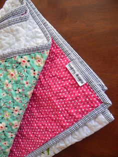 Teaginny Designs: Granny Squares Baby Quilt binding trick.